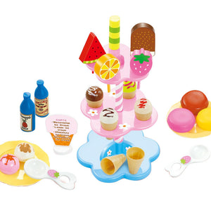 children's simulation desserts ice cream pretend play toys set