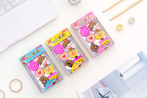 cute cake doughnut box eraser set
