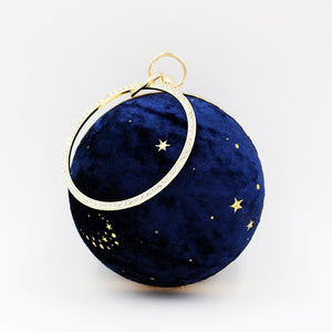 fashionable pile star ball dinner clutch