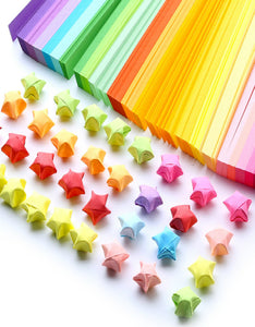 creative candy color  pentagram origami strip