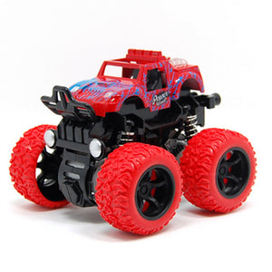 colorful inertial four-wheel drive car toy vehicles