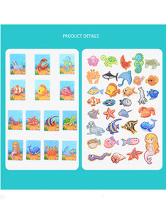 7 styles cute educational magnetic book puzzle toys
