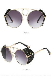 steam punk metallic rivet sunglasses