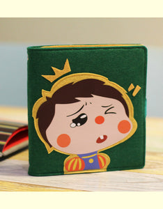 funny pull face A5/B6 felt cover wired notebook