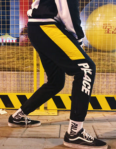patchwork embroidered printing men pants couples who pants