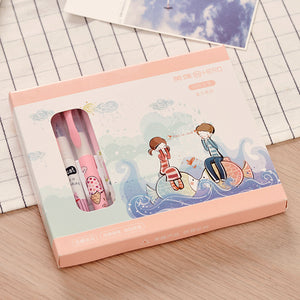 cartoon ink sac pen gift box set
