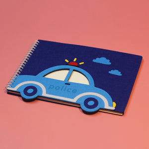 felt transport cover kids drawing wired notebook