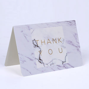creative marble thank you card