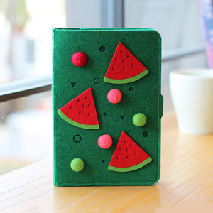 cute felt fruit cover hand account wired notebook