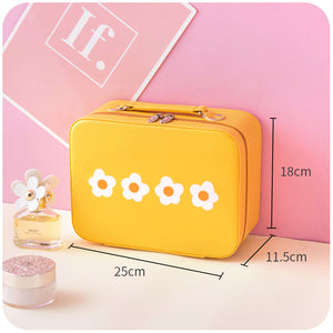 cute flower printed handbag cosmetic bag