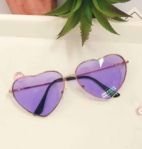 Cute Retro Heart Shaped Sunglasses