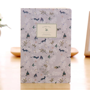 cartoon freehand drawing softcover notebook