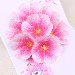 3D peach blossom Valentine's day card
