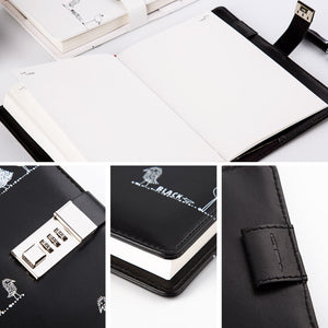 graffiti-art style students password leather notebook