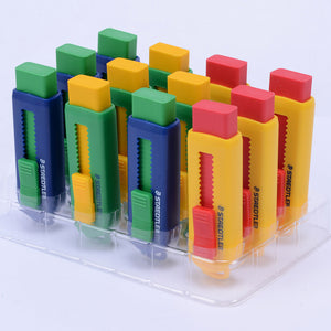 creative retractable and pushable eraser set