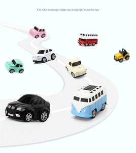 8pcs/set mini macaron alloy inertial car toy vehicles