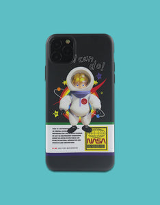 baby astronaut painting soft phone case