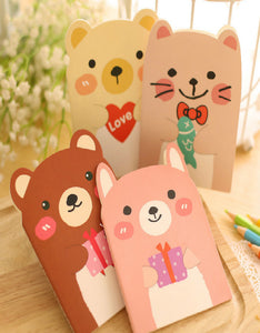 cartoon bear printed portable notebook