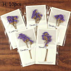 dried flower thank you card