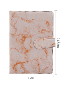 marbling PU cover A5 students leather notebook