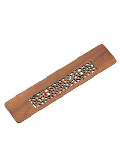 solid wood hollow out gift box ruler