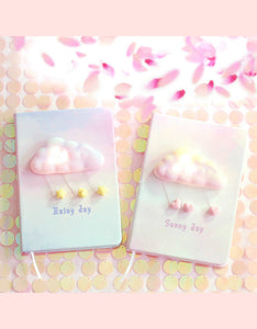 cute cloud light cover girl gift hardback notebook