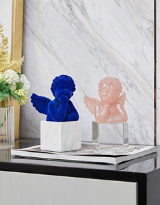 cute Cupid lucency resin desktop decoration