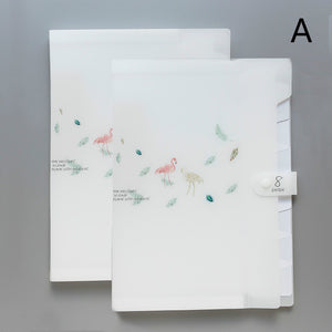 flamingo A4 multilayer classify organ file folder - set of 2