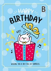 creative large size birthday card