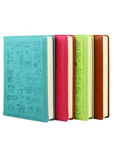 cute cartoon drawing cover A5/A6 leather notebook