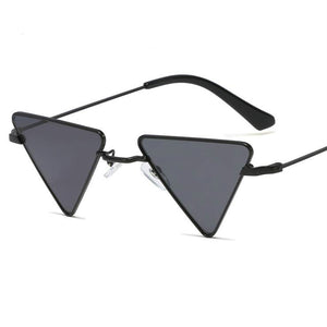retro triangle-shaped sunglasses