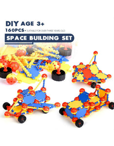 160 pieces ball-shaped buliding blocks space buliding set