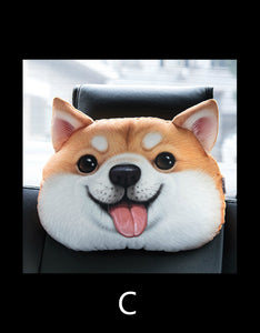 3D animal emoji car headrest pillow stuffed toys