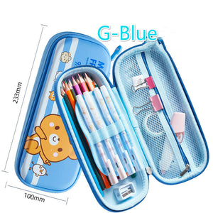 creative and funny multi-function  large capacity zipper pencil case