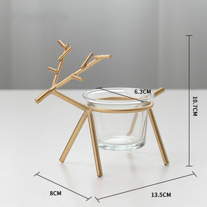 deer modeling candelabrum desktop decoration