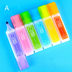 colorful  fluorescent bold line marker pen