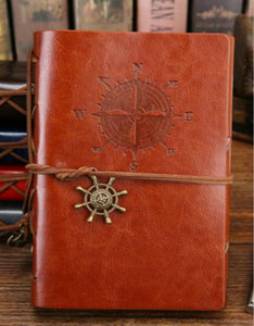 creative retro corsair loose-leaf imitation leather notebook