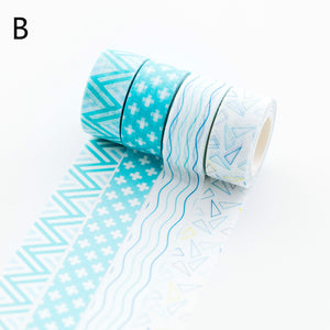 geometric figure candy color mini washi tape set