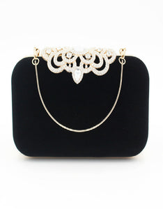fashion crown velvet dinner clutch