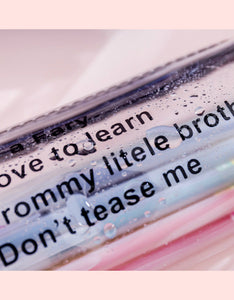 lucency waterproof letter printed pencil case