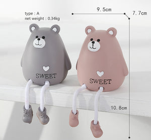 lovely hanging feet animals  desk decoration