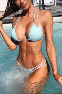 Simple Hollow Out 2 Pieces Bikini Set