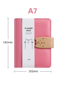 cute loose-leaf multifunction leather notebook