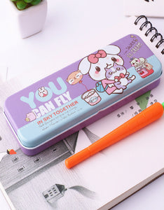 cartoon double tinplate pencil case