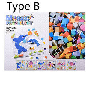 colorful patterns mosaic jigsaw puzzle art toy