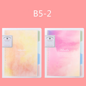 natural scenery colorful loose-leaf a set of 2 notebooks