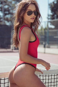 front zipper backless one-piece swimsuit