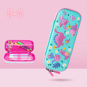 cute 3D pattern waterproof zipper pencil case
