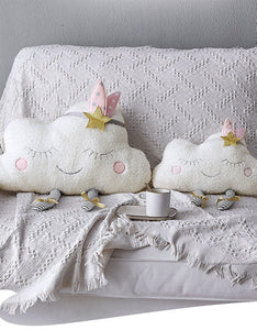 cute smiling clouds pillow plush stuffed toys
