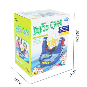 funny bingo cage lottery party game toys